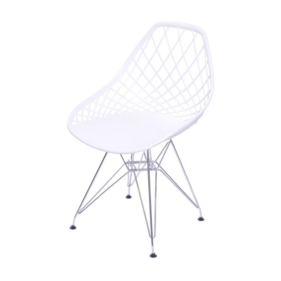 Cadeira Jenny em Polipropileno com Base Cromada - Várias Cores