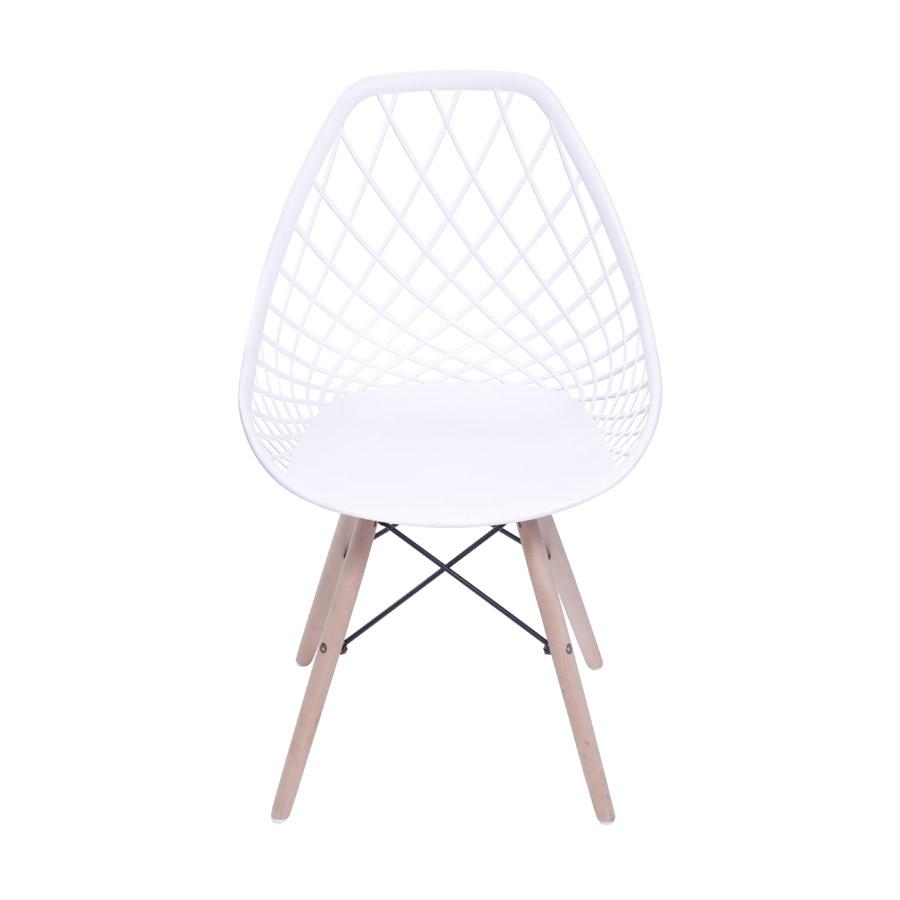 Cadeira Jenny em Polipropileno com Base Madeira - Várias Cores