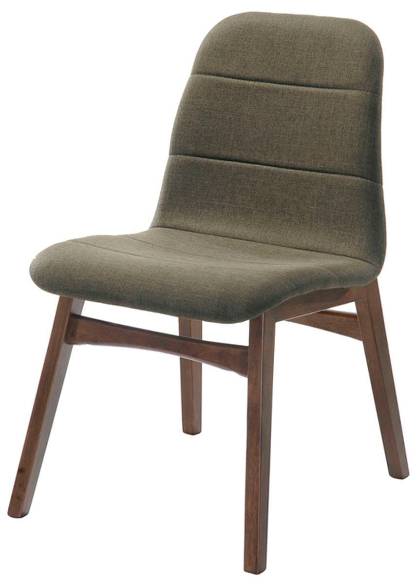 Cadeira Lazio em madeira revestida fixa