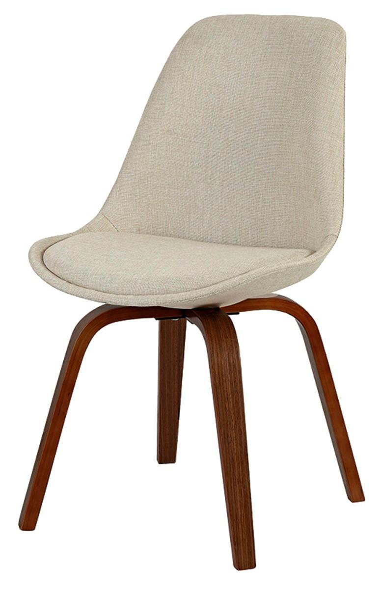 Cadeira Violeta em linho com base madeira