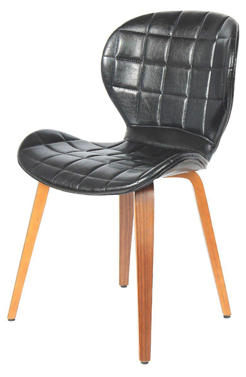 Cadeira Madrid  corpo em madeira revestida em Pu