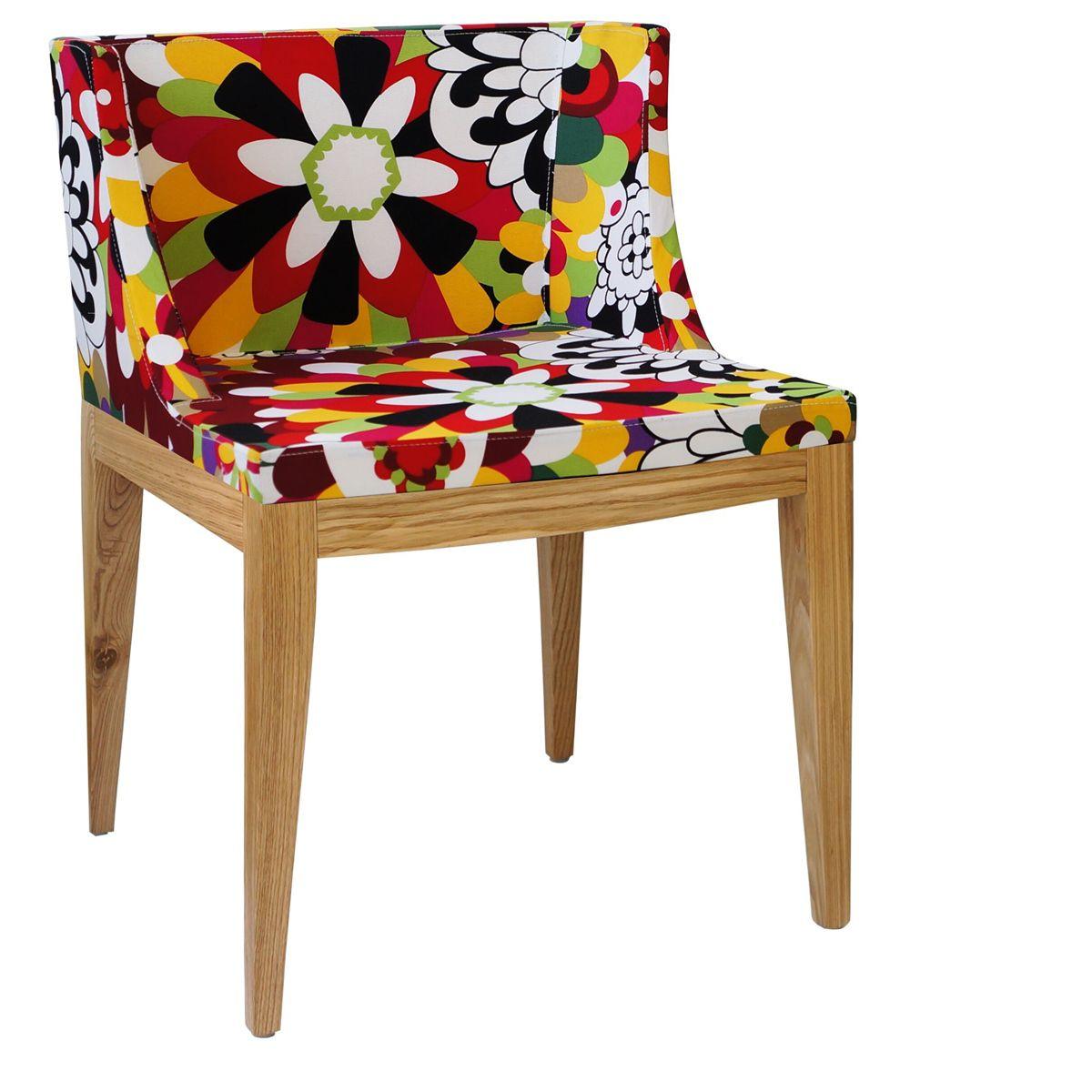 Cadeira Mademoiselle Senhorita Christie Base em Madeira Clara
