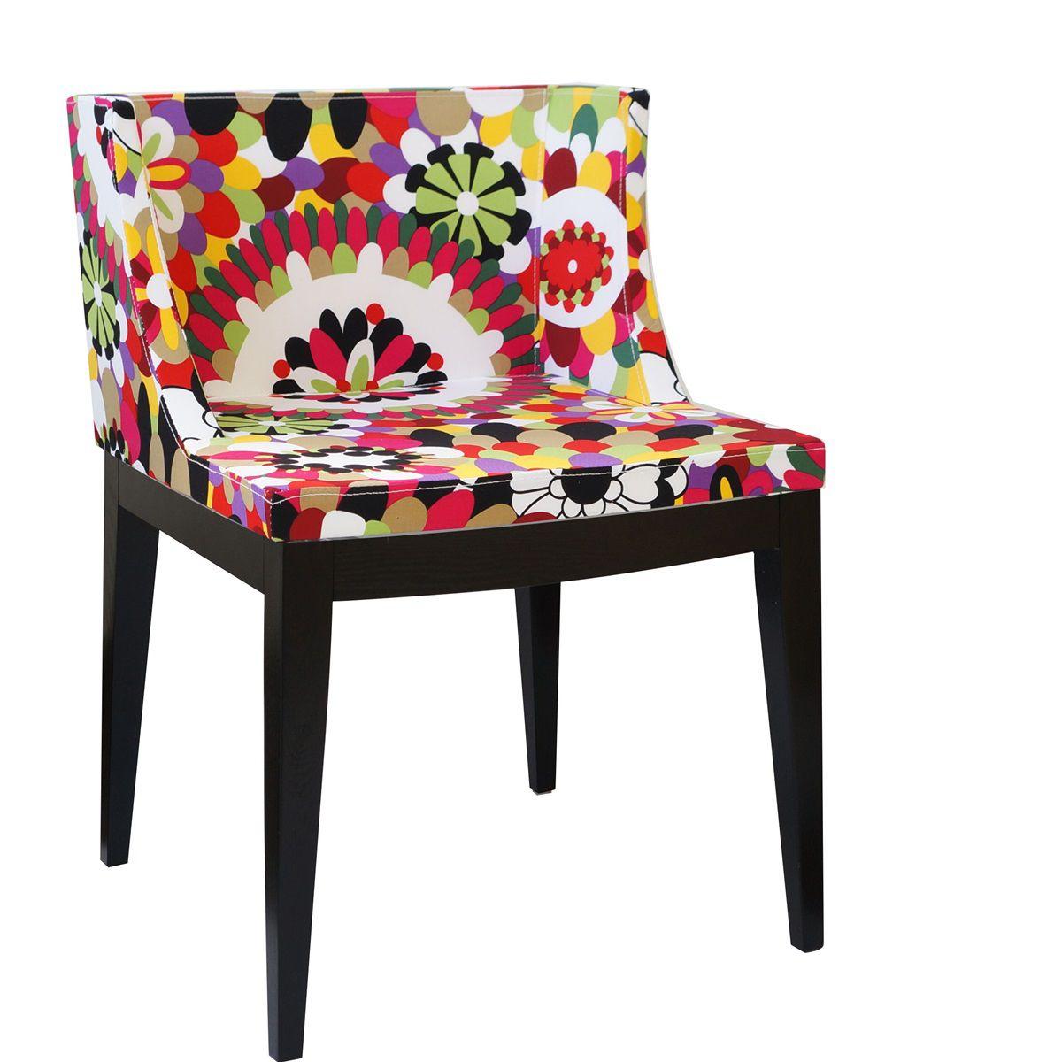 Cadeira Mademoiselle Senhorita Christie Base em Madeira Escura