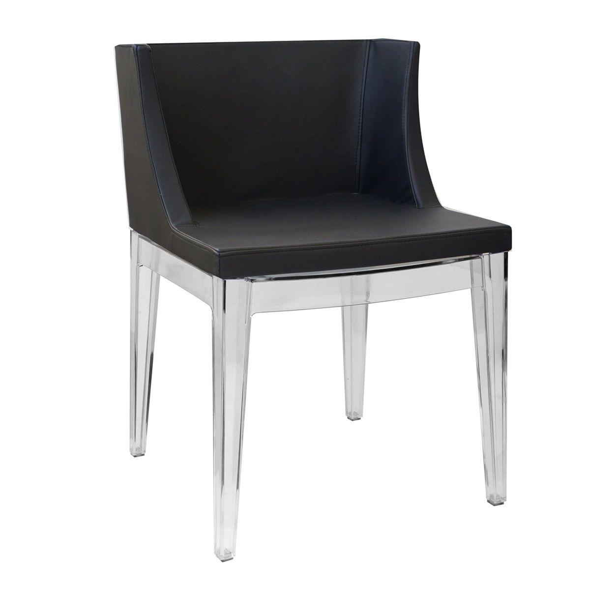 Cadeira Mademoiselle Senhorita Christie Base em Policarbonato Transparente