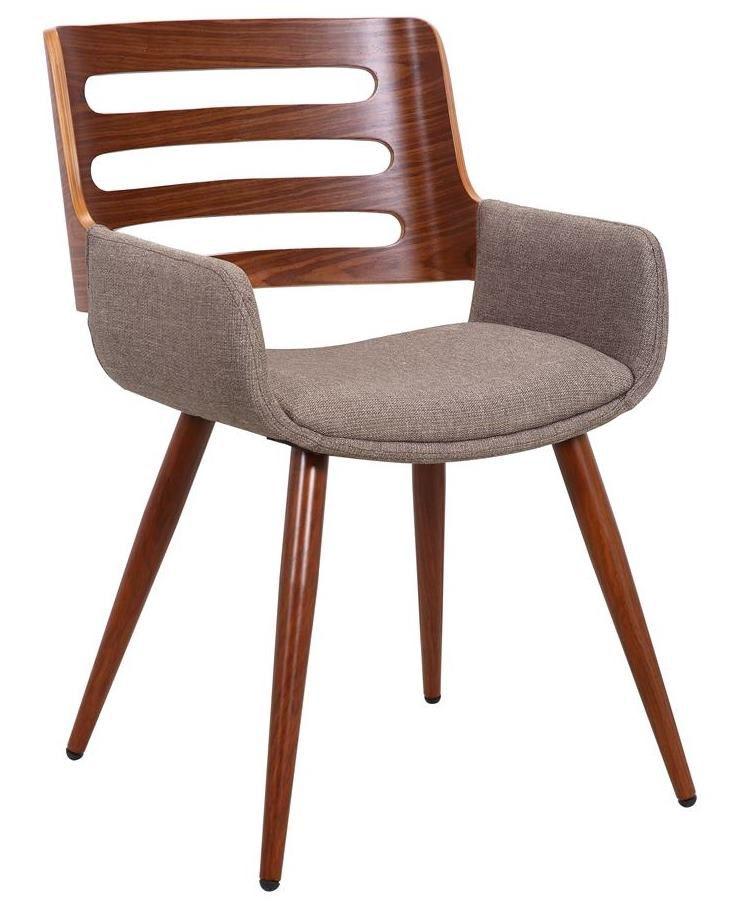 Cadeira Málaga assento revestida em pu com braço