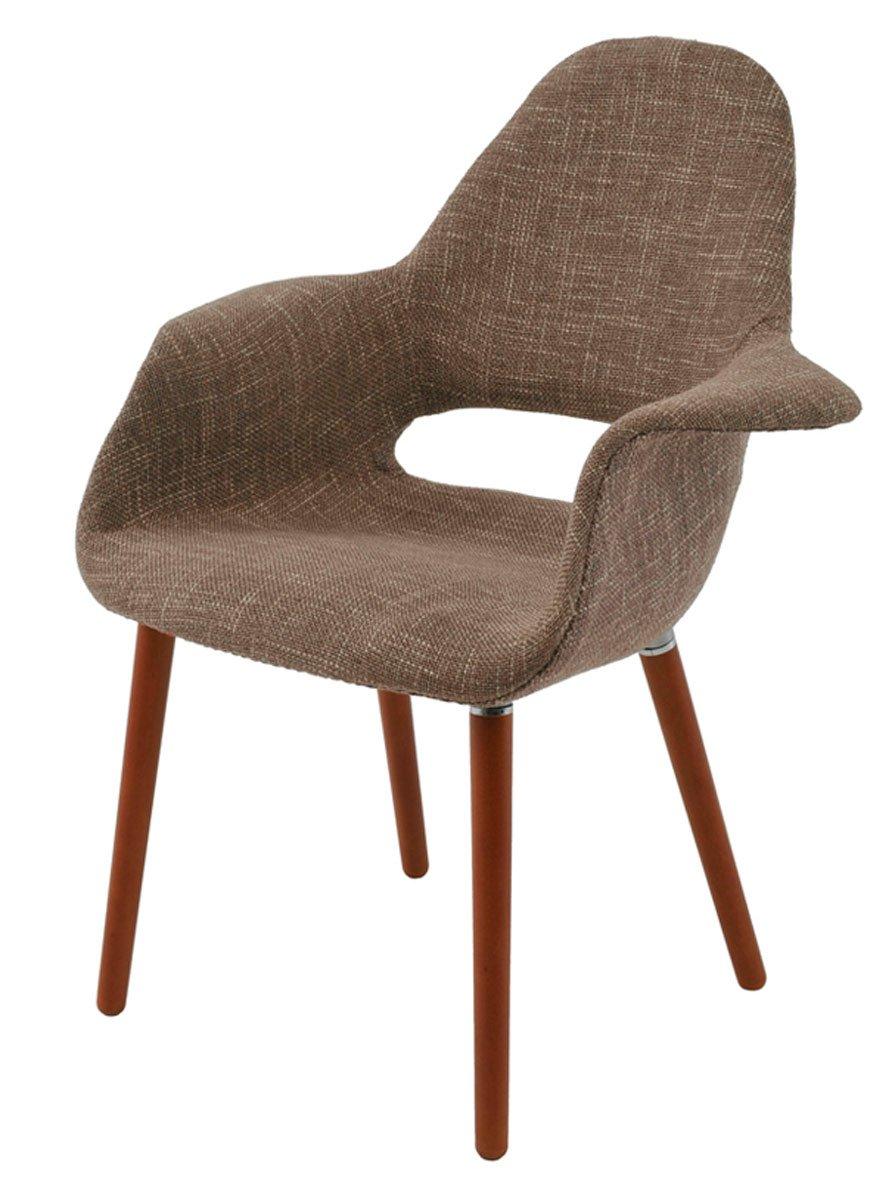 Cadeira Marieta base madeira  revestida em tecido