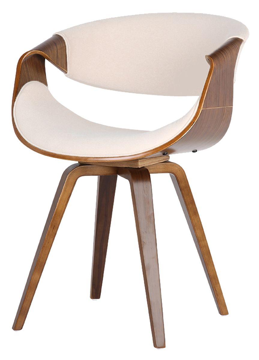 Cadeira Milao  corpo em madeira revestida em Linho
