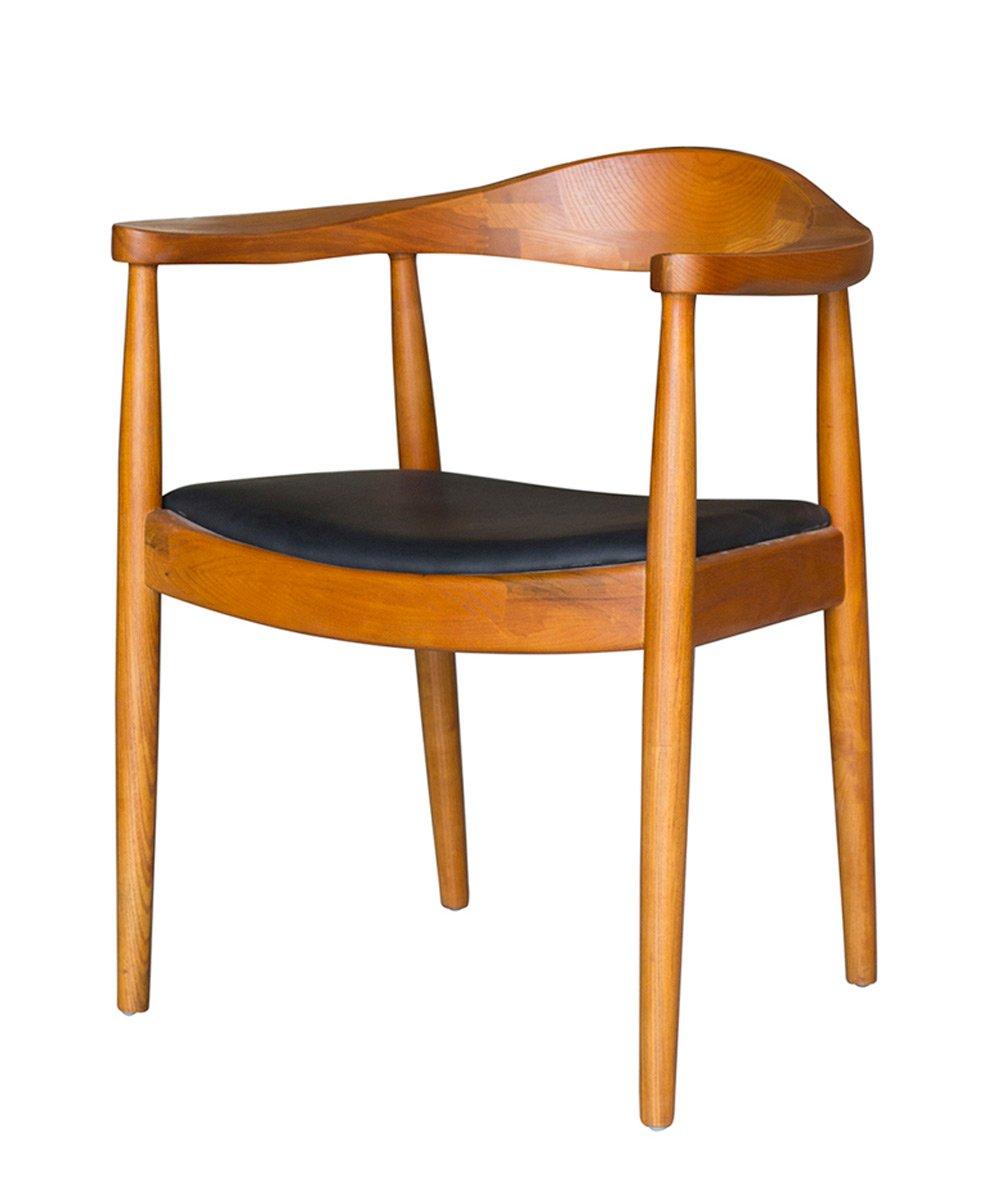 Cadeira Nivea corpo em madeira revestida em pu
