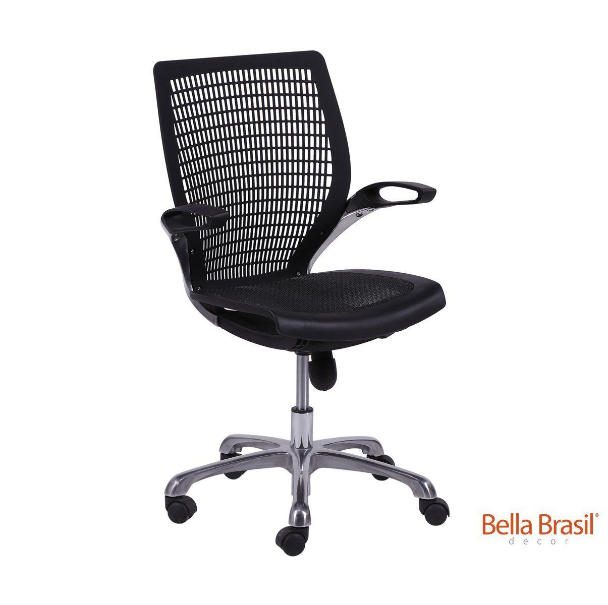 Cadeira de Escritório Anapá com Assento em Nylon e Relax com Base Giratória