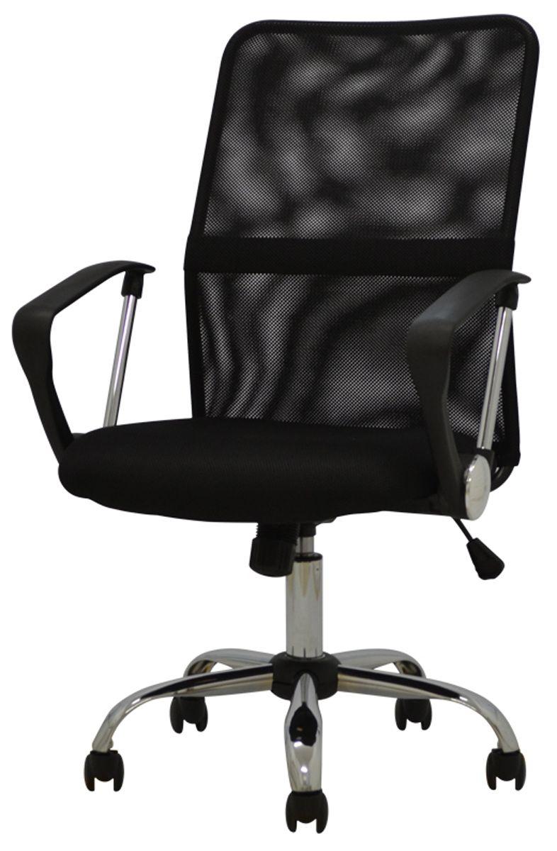 Cadeira Office Juventus revestida em tela mesh pé giratória em nylon