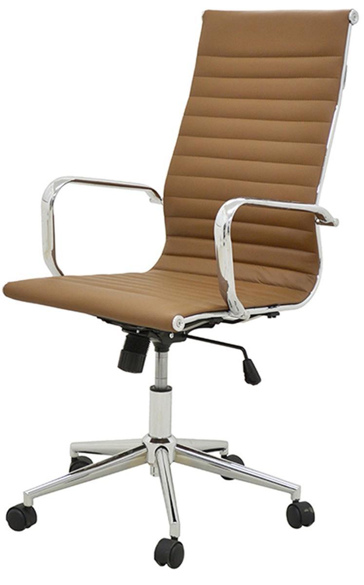 Cadeira Office sevilha corino alta pé  giratória  cromado