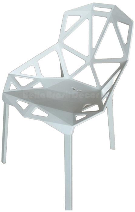 Cadeira One Penelope PP Branca Ponta de estoque