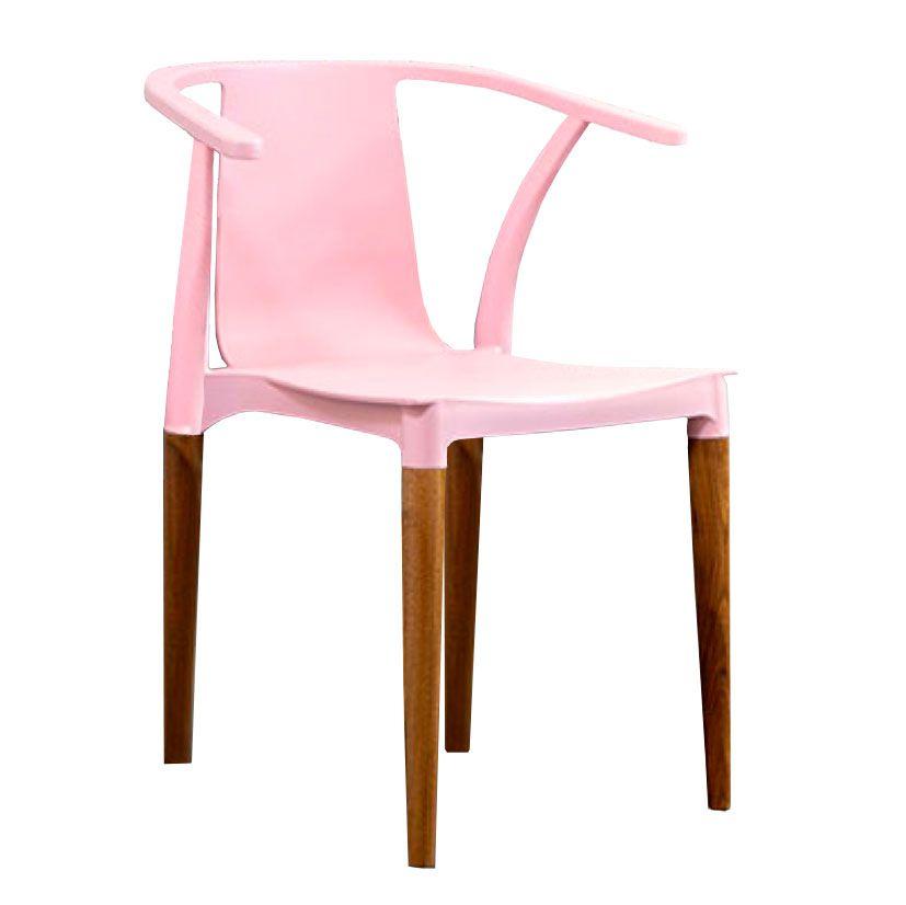 Cadeira Eri Em polipropileno e base em madeira