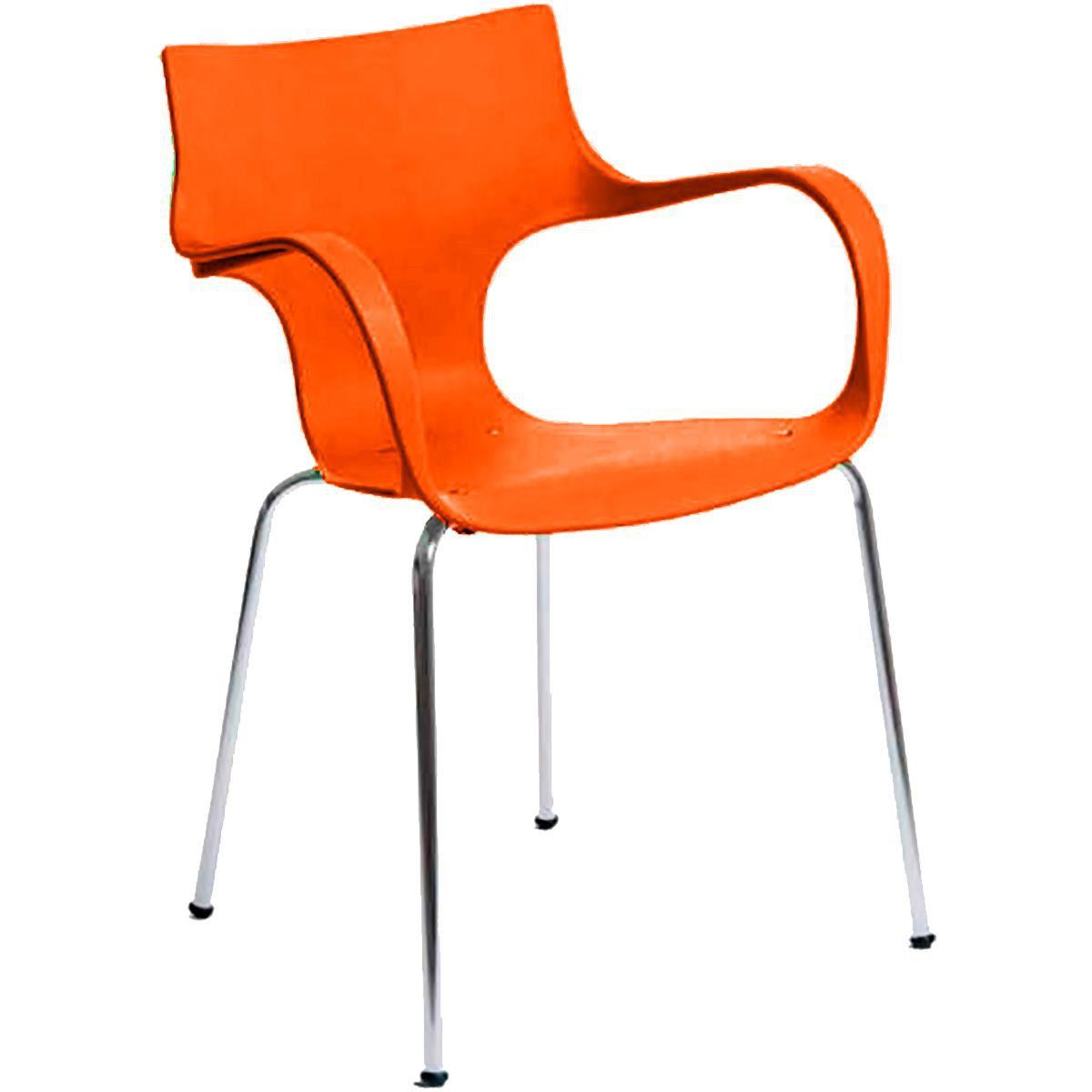 Cadeira Polipropileno Cromada Daniela