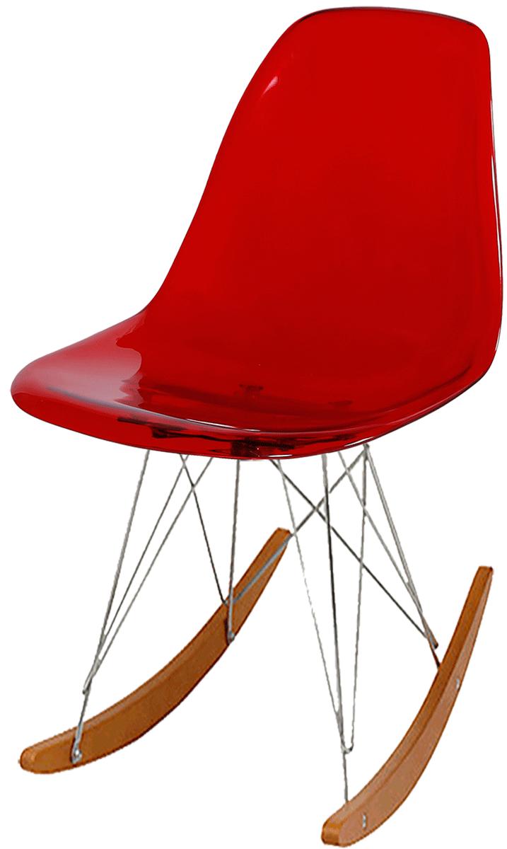 Cadeira Eames Balanço RSR Policarbonato Base Balanço