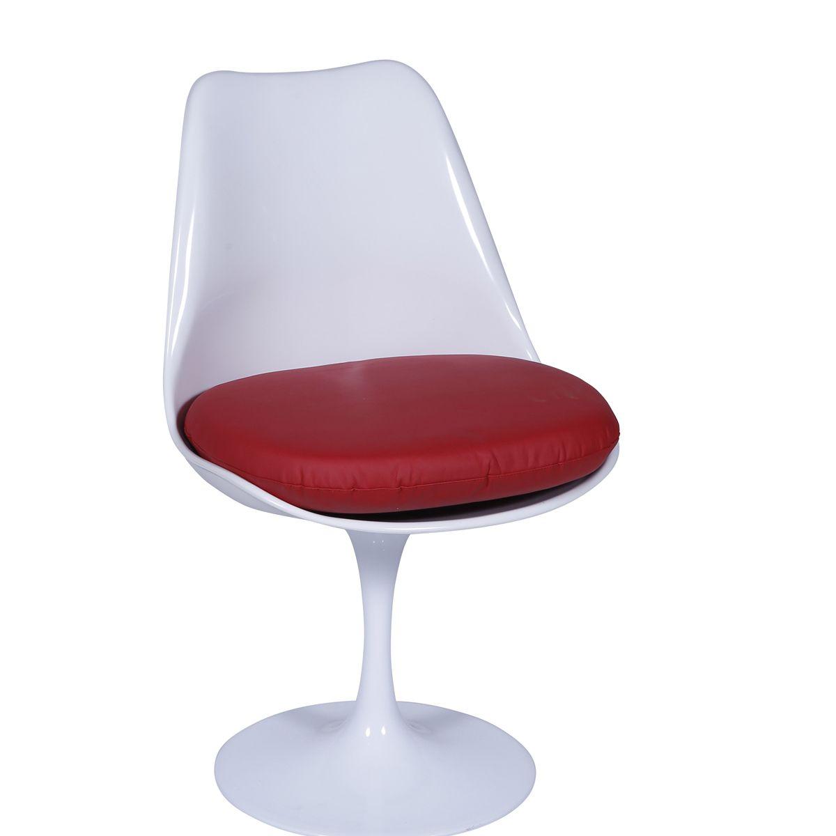 Cadeira Saarinen em ABS sem Braco e Base em Aluminio