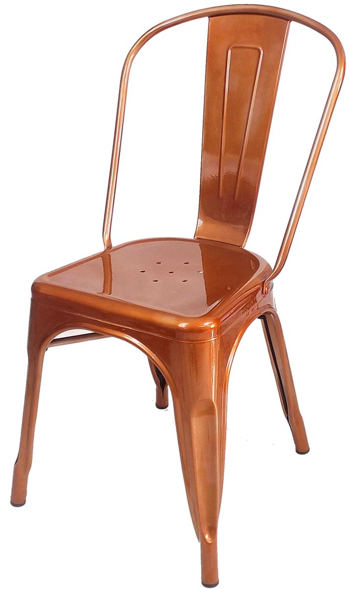 Cadeira Tolix Iron Cobre Rose Gold Vintage