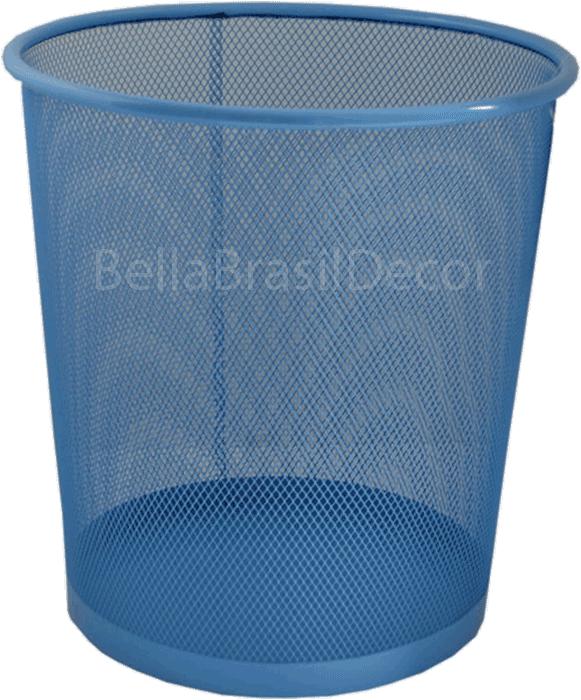 Cesto de Lixo Office Telado Azul