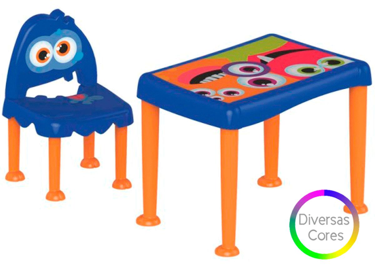 Conjunto Infantil Cadeira e Mesa Monster