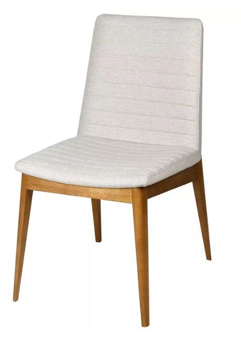 Cadeira Japy em Madeira Revestida em Tecido