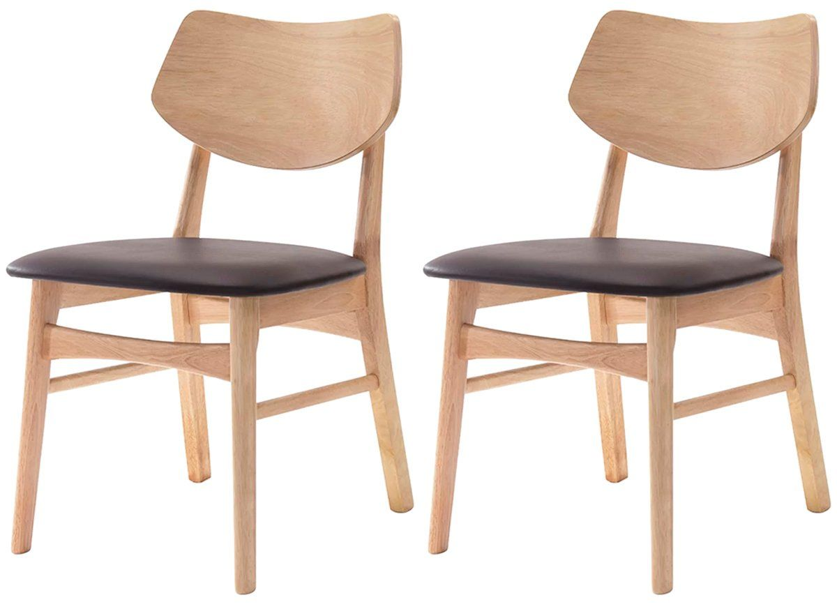 Kit 2 Cadeiras Edna em madeira natural