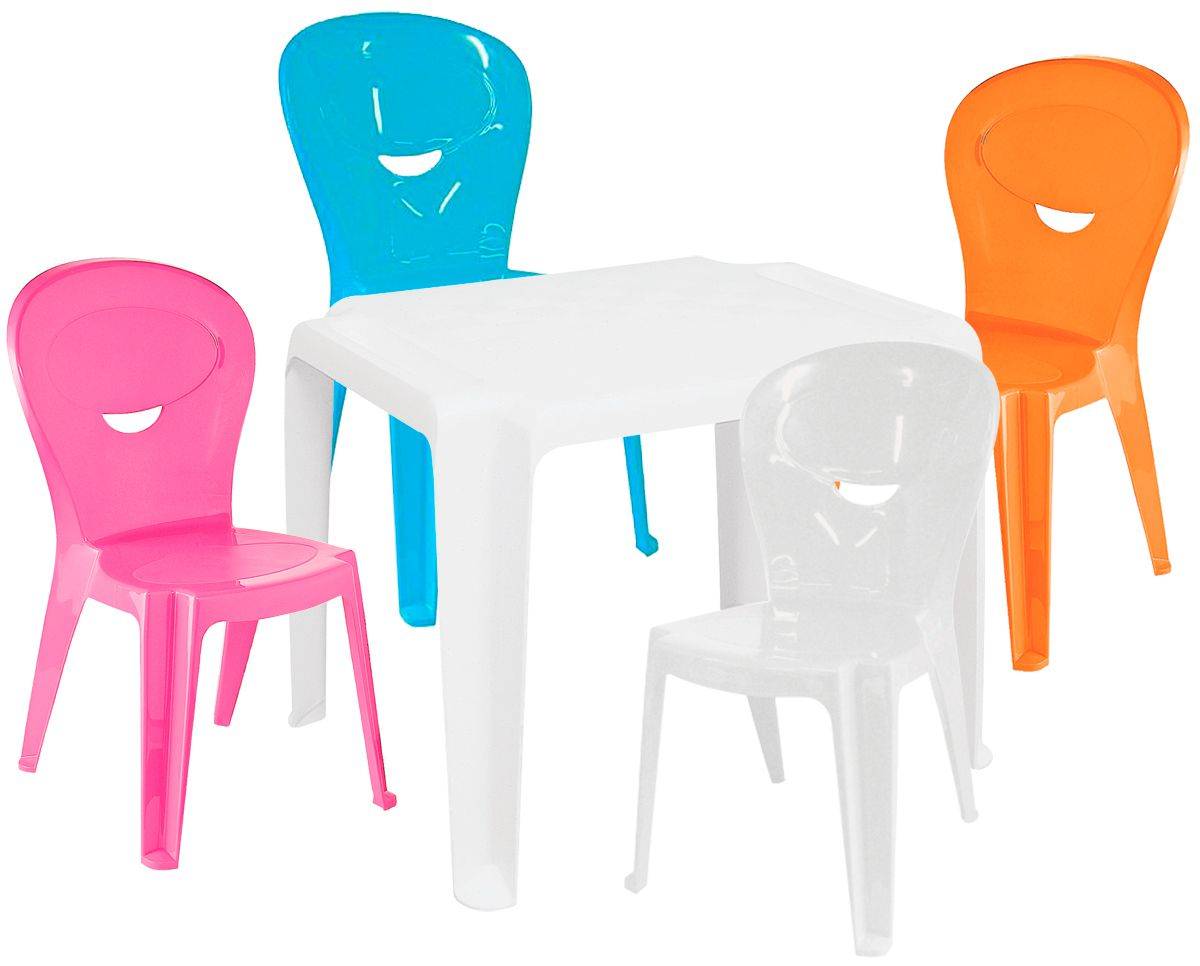 Kit Infantil Mesa Dona Chica e Cadeira Vice