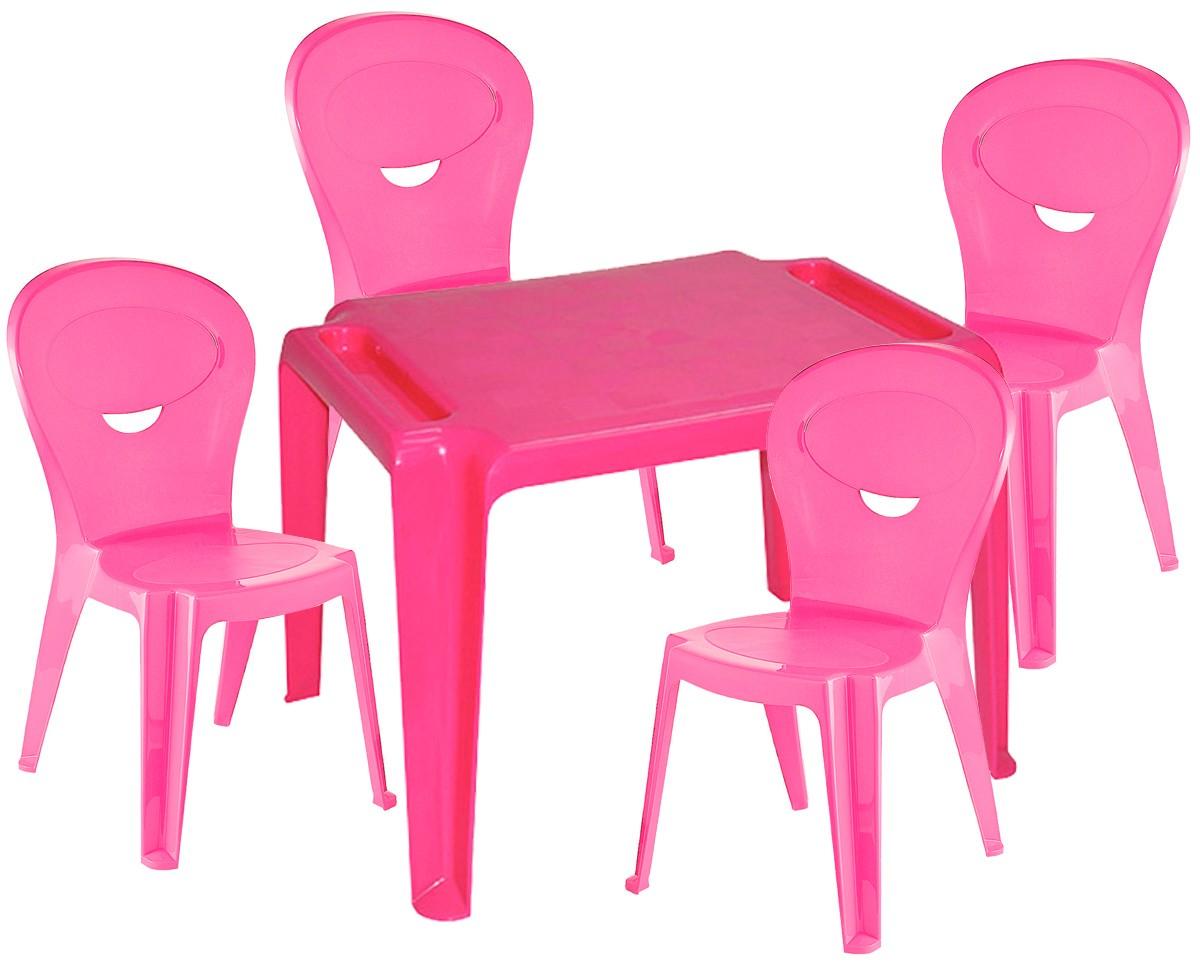Kit Infantil Mesa Dona Chica e Cadeira Vice Rosa- Ponta de estoque