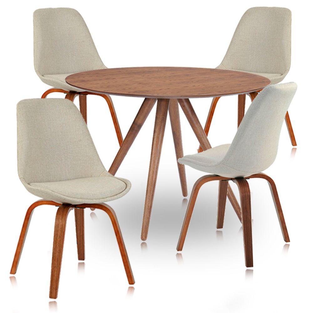 Jogo de Mesa de Jantar Torino e Cadeiras Violeta Tecido