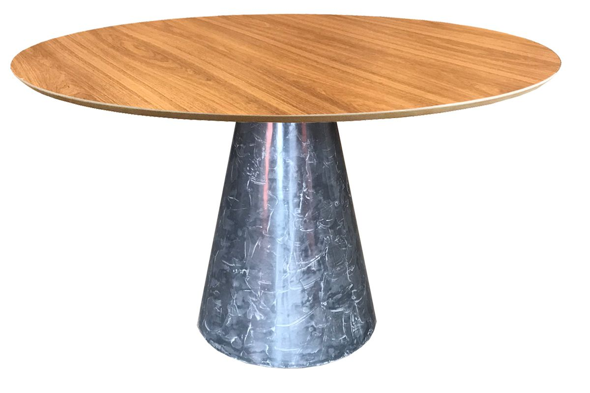 Mesa de Jantar Cone Redonda Cimento Polido Acetinado e Resinado