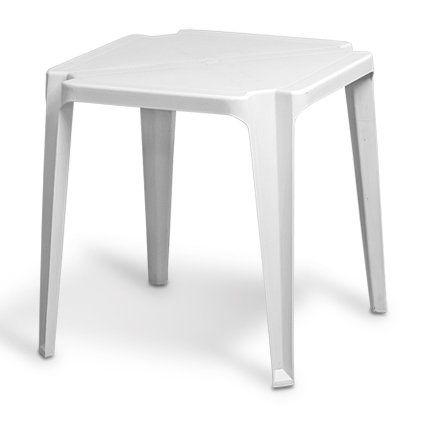 Mesa de Plastico Branca 70x70 - Certificado Inmetro