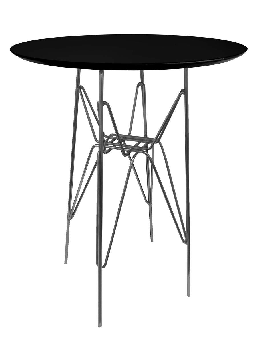 Mesa Lateral Eames 60cm Altura com Tampo Coverglass