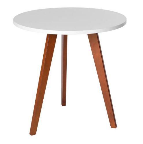 Mesa lateral redonda - Altura 50cm  - Tampo 50cm cor branca