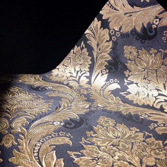 Papel de Parede Preto e Dourado BH3682507