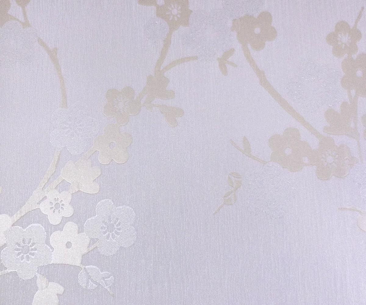 Papel de Parede Branco e Dourado MD17105034