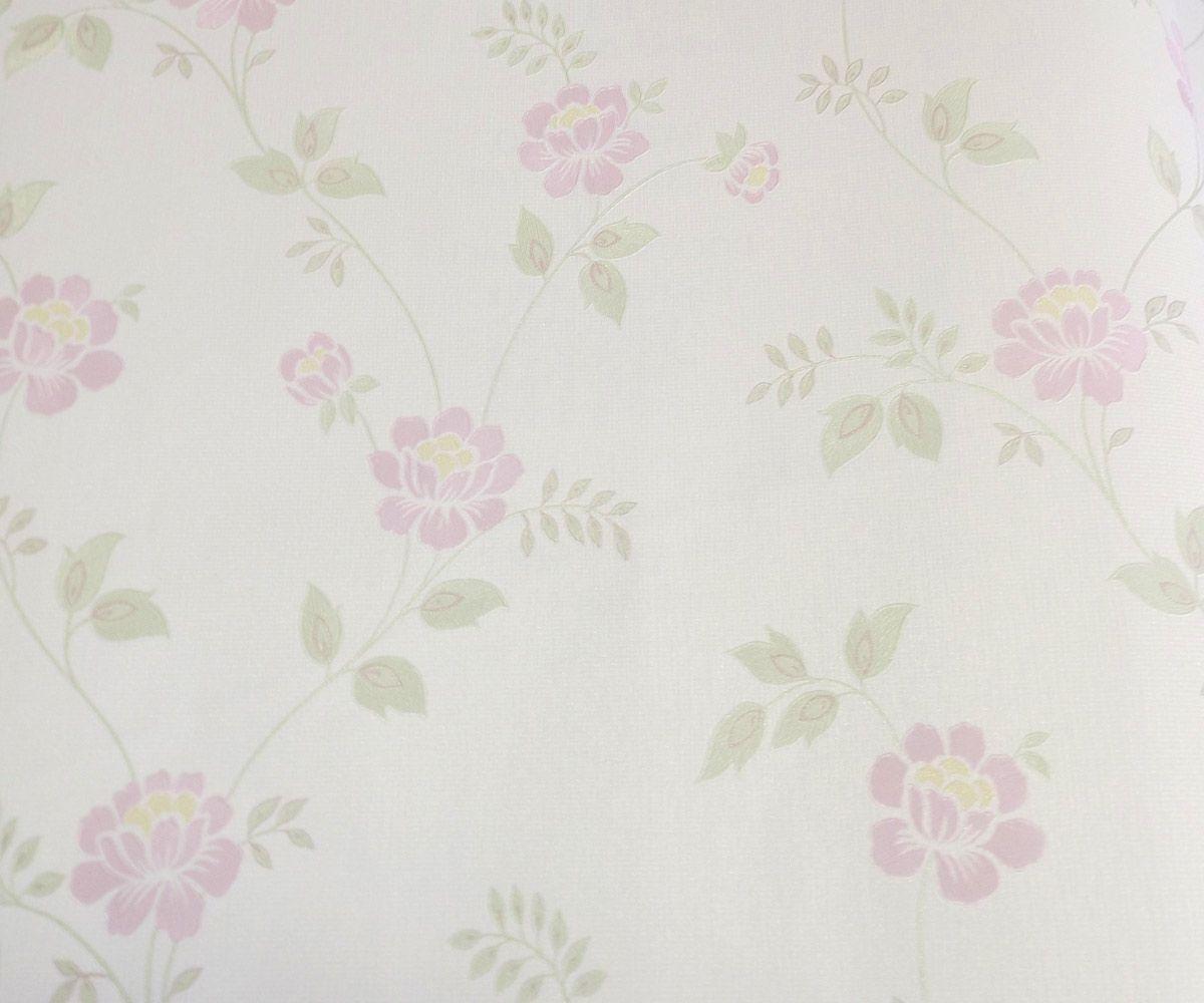 Papel de Parede Creme e Rose Pink Yd49203057