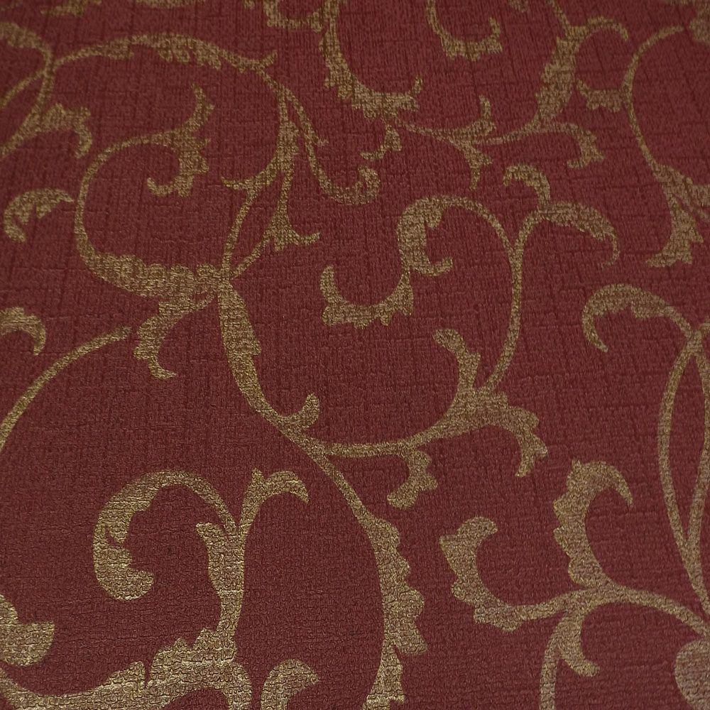 Papel de Parede Vermelho Malbec e Dourado SB6510408
