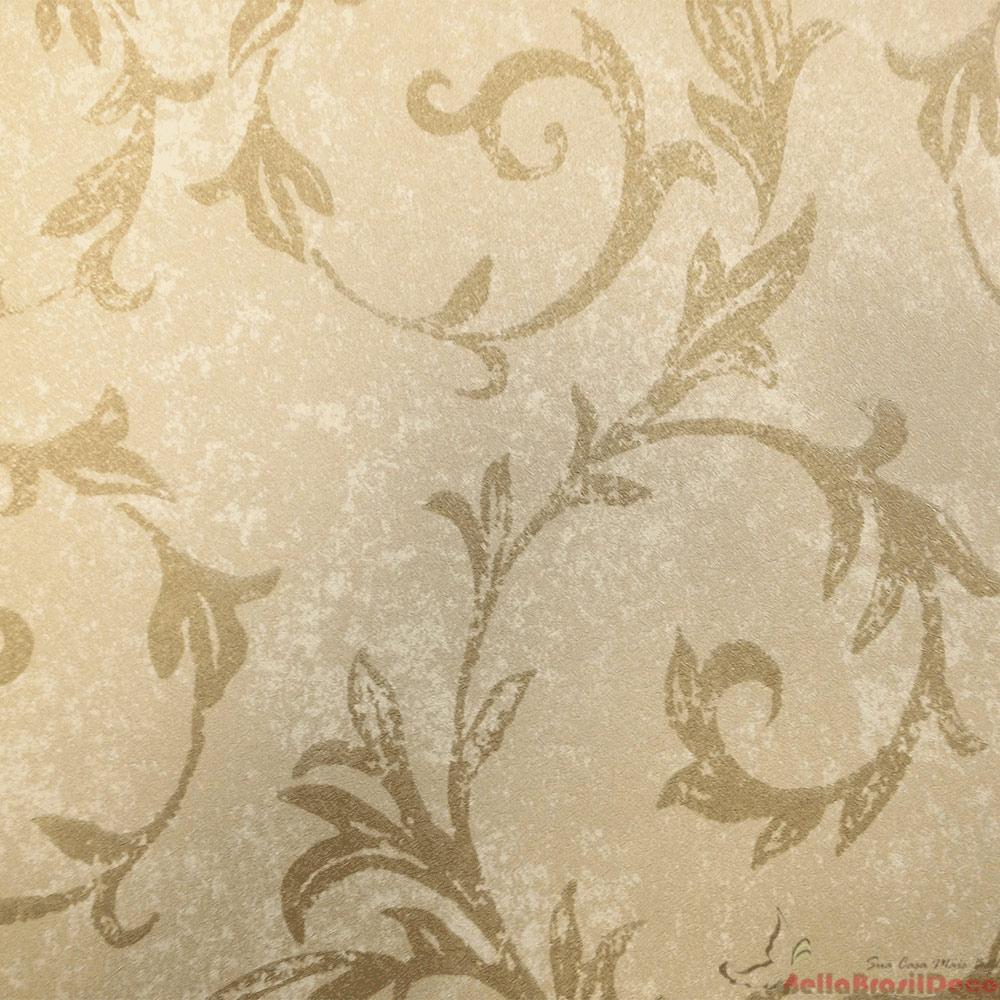 Papel de Parede Marrom e Dourado FS011509