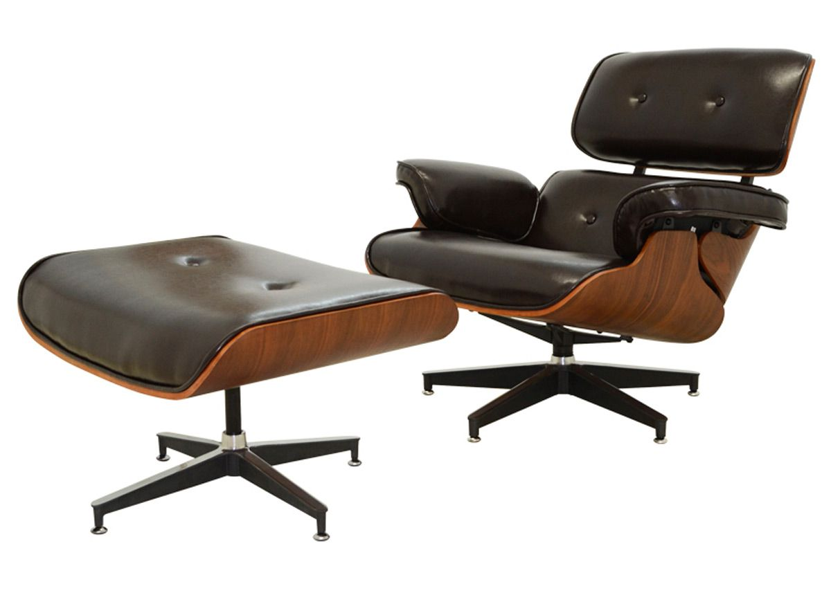 Poltrona Charles Eames Classic com Puff