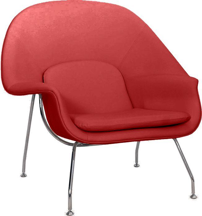 Poltrona Womb Chair Estofada em Couríssimo