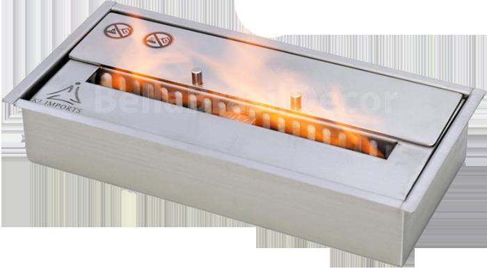 Queimador para lareira BE Caixa Dupla 30cm 1,5L