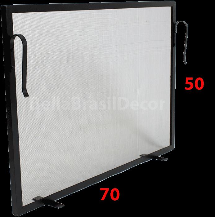 Tela de Proteção para Lareira 70x50