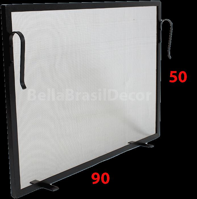 Tela de Proteção para Lareira 90x50