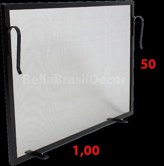 Tela de Proteção para Lareira 100x50