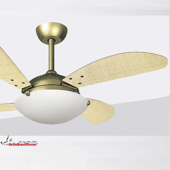 Ventilador Gold VR300 4 Pas Fly Palha Natural