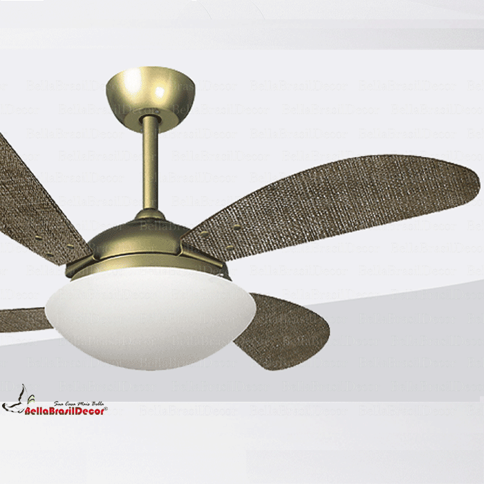 Ventilador Gold VR42 4 Pas Fly Palha Natural