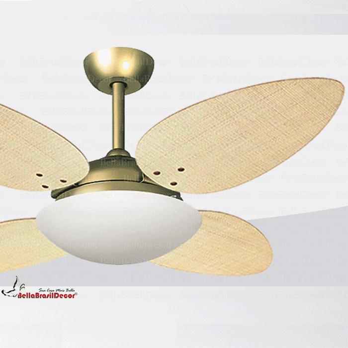 Ventilador Gold VR42 4 Pas Petalo Palha Natural