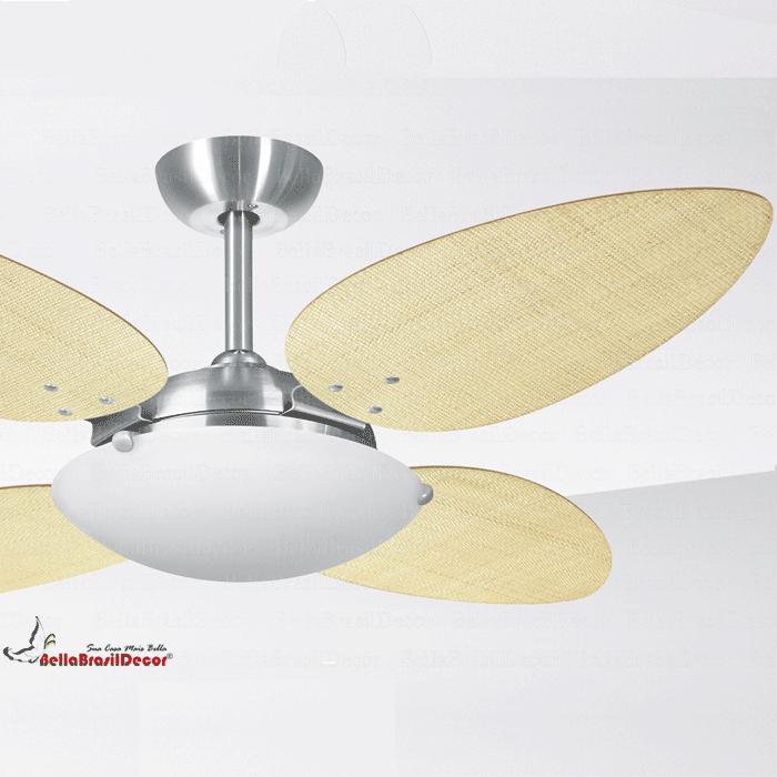 Ventilador Platinum VR300 4 Pas Petalo Palha Natural