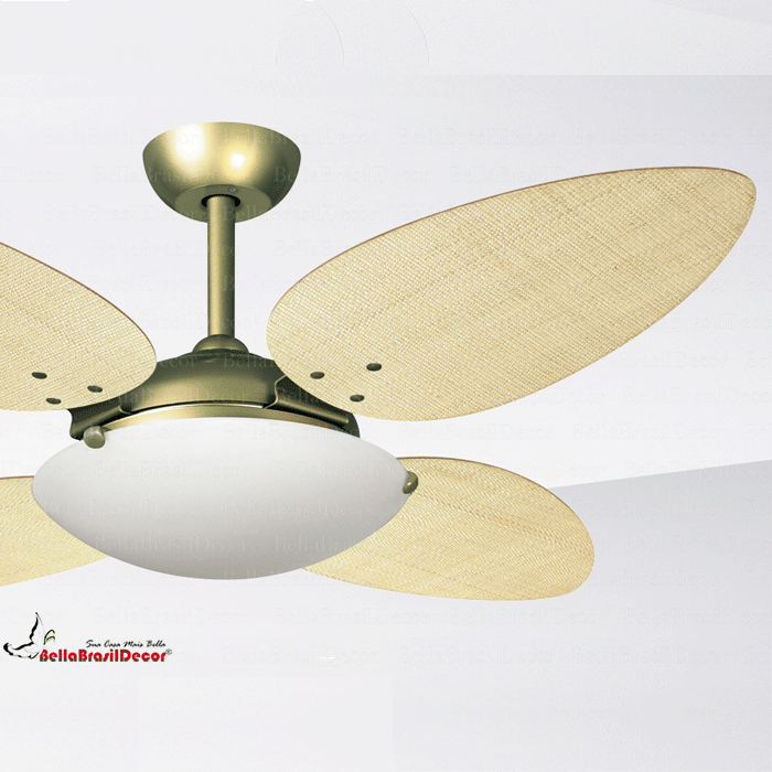 Ventilador Gold VR300 4 Pas Petalo Palha Natural
