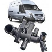 Carcaca com a Valvula Termostatica Ford Transit 2.4 16V Diesel