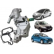 Carcaca Valvula Termostatica Peugeot 206 207 Citroen C3 1.4 8V em Aluminio